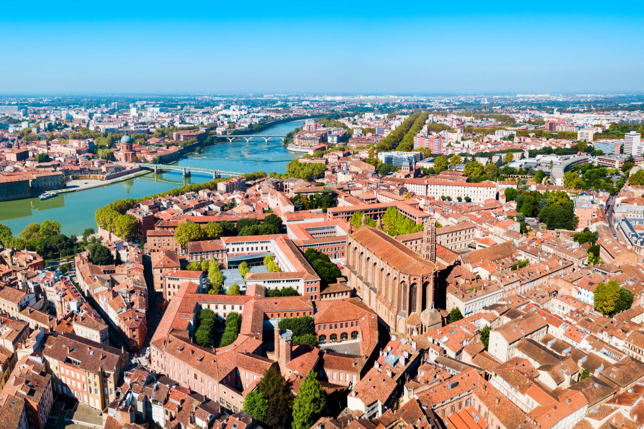 Luftpanorama von Toulouse